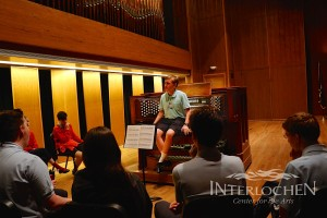 Bryan teaching Interlochen organ majors